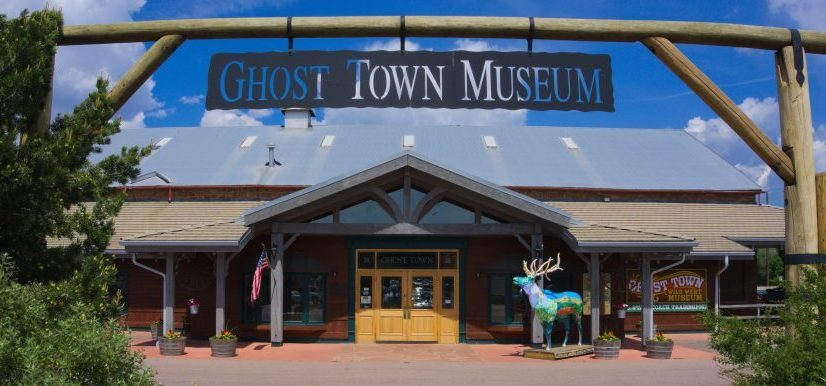 ghost town museum - front door - roundhouse - colorado springs