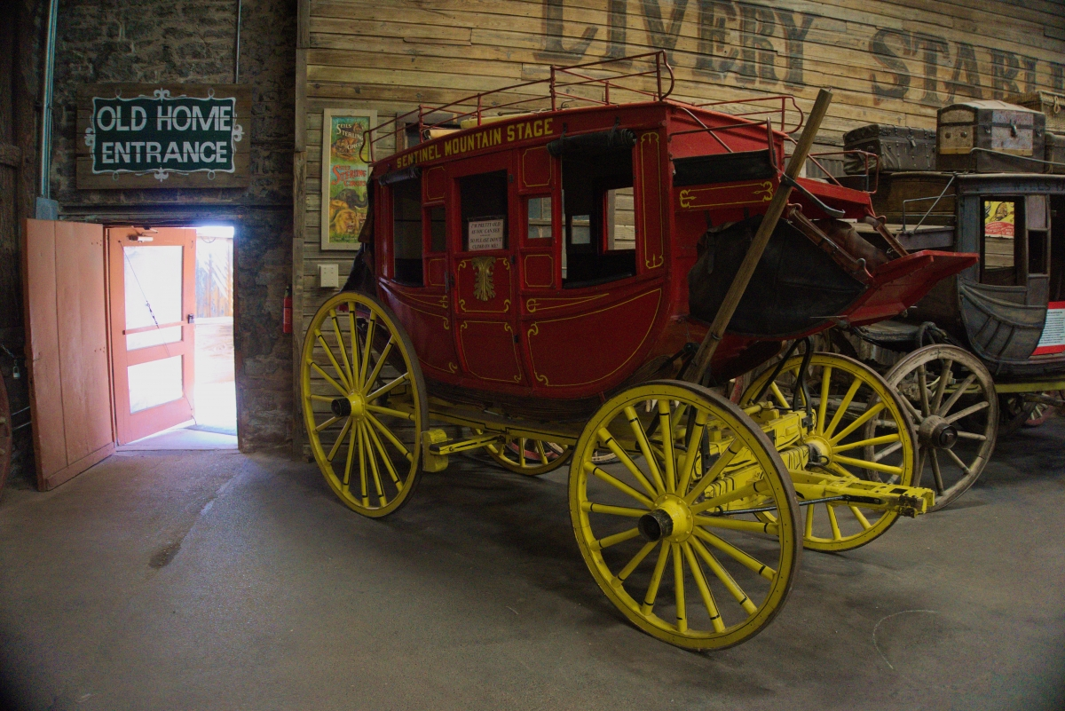 Ghost Town Museum - carriage exhibit